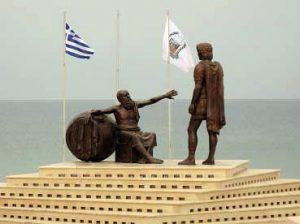 Σύμπλεγμα Αγαλμάτων Διογένη και Αλεξάνδρου στα Καλάμια