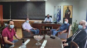 Συνάντηση Δημάρχου Κορινθίων με εκπροσώπους της εταιρίας φυσικού αερίου και επιχειρήσεων
