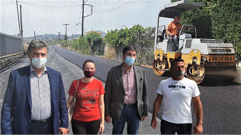 Ασφαλτοστρώθηκε η οδός Αγίας Μαρίνας στον Άσσο: Β.Νανόπουλος: Συνδέουμε τον Άσσο με τον Προαστιακό