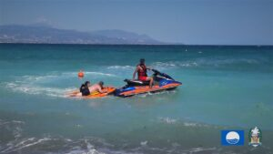 """Παραλία """"Καλάμια"""" : Ομιλία και """"εικονική διάσωση λοουμένου σε εξάντληση εντός θαλάσσης"""""""